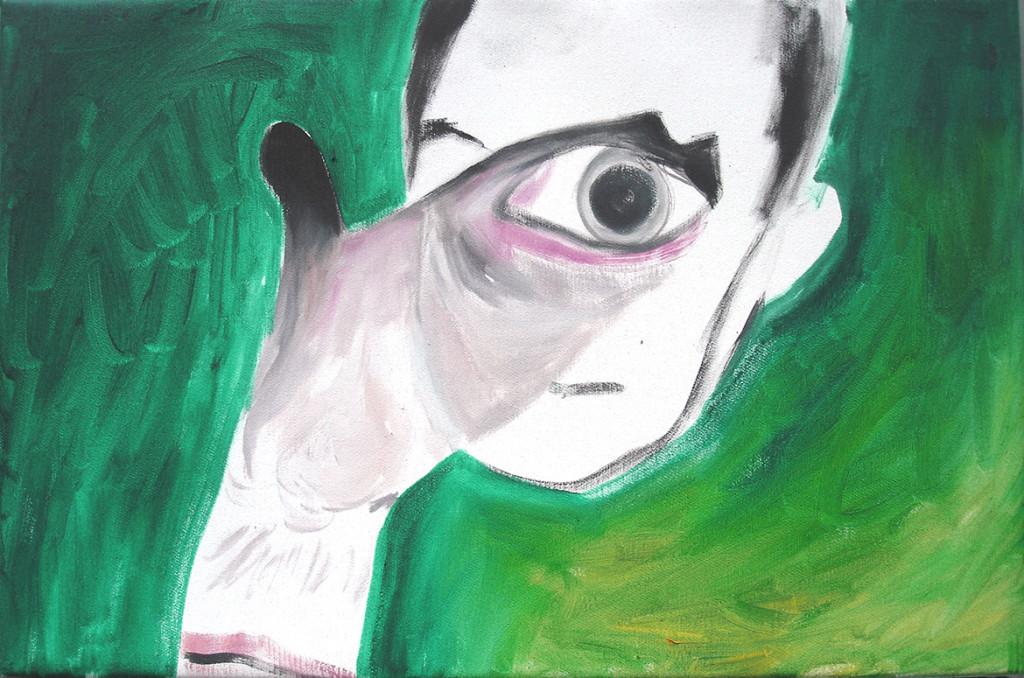 Portrait Helmut Berger, 2006, oil/canvas, 30 x 45 cm