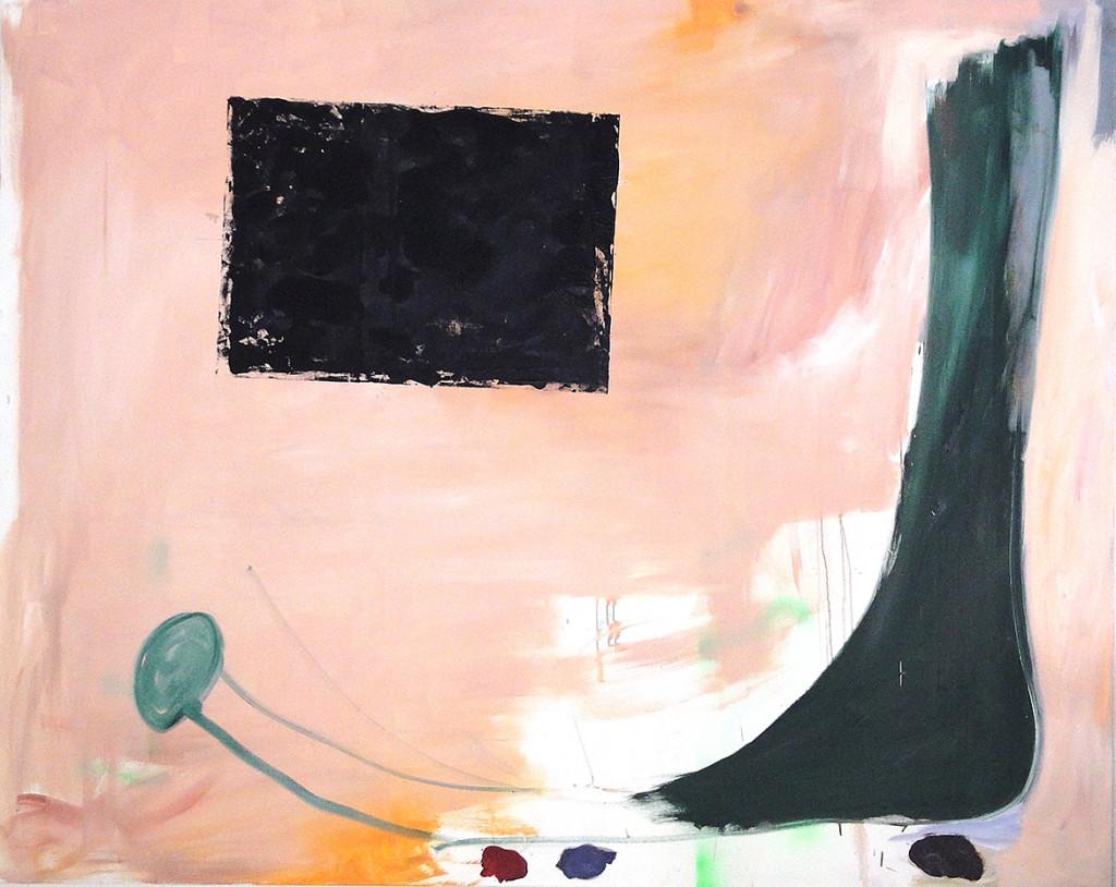 046_schnabelschuh_mit_linolschnitt_kodritsch_paintings_2011_160x180cm_web